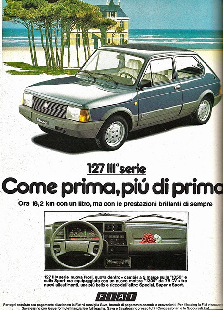 fiat 127 1982, via Flickr.