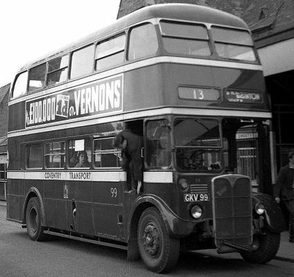 1950 AEC Regent /  Metro Cammell - Coventry 99