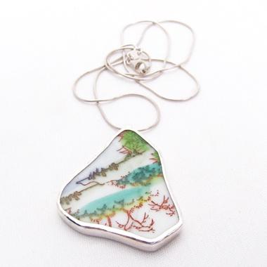 broken plate pendant by Erica Bello