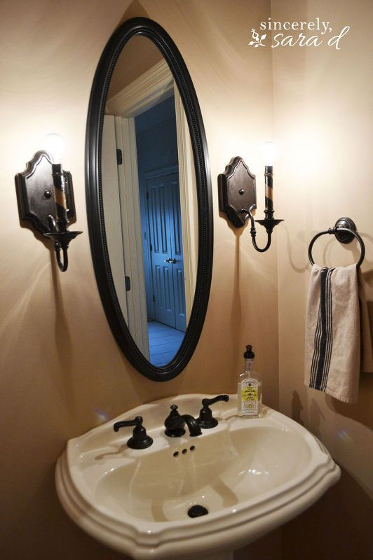 how to paint your brass faucets, bathroom ideas, painting, small bathroom ideas