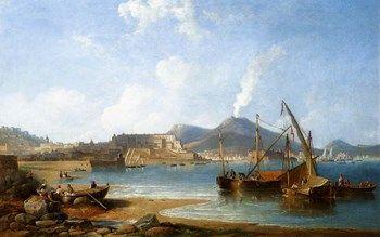 James Wilson Carmichael (1800-1868) English painter  The Bay Of Naples With Vesuvius Beyond  1863