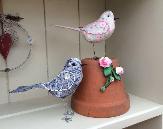 Oiseau tissu fait main modèle tissu imprimé liberty par diosman