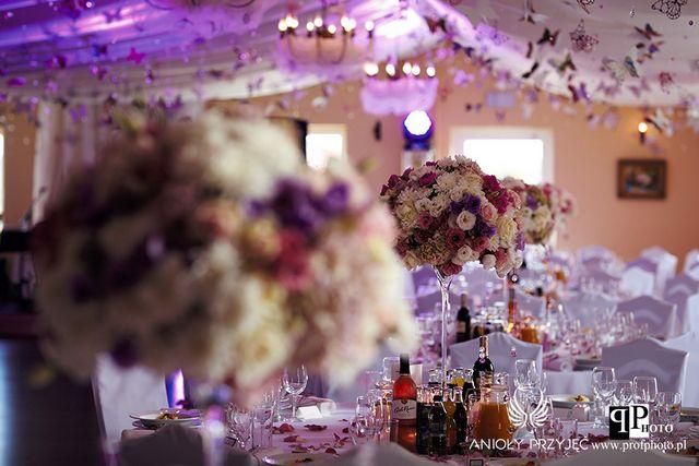 Butterfly Wedding,Centerpieces,Pomanders,Purple/Motylkowe wesele,Dekoracje,Fioletowe wesele,Anioły Przyjęć