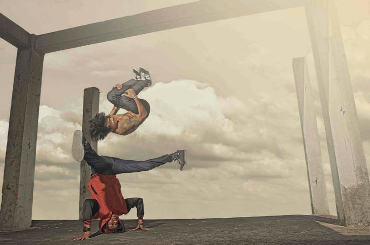 Parkour and breakdance