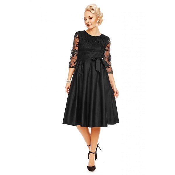 Černé šaty s krajkovými rukávy Dolly and Dotty Celine