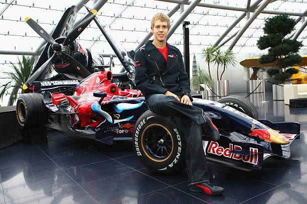 Sebastian Vettel of the Torro Rosso Team poses during the Puma Red Bull Collection Launch at the Hangar 7 on November 27 2007 in Salzburg Austria