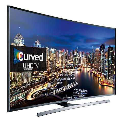 "Buy Samsung UE48JU7500 Curved LED HDR 4K Ultra HD 3D Smart TV, 48"" with Freeview HD/ freesat HD and Built-in Wi-Fi Online at johnlewis.com"