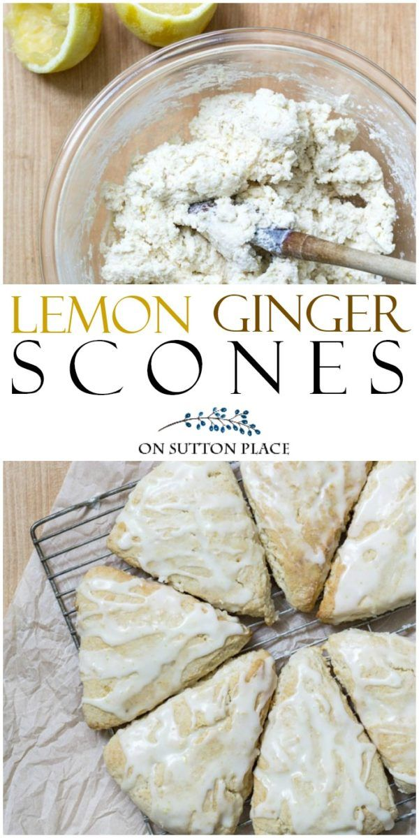This easy lemon ginger scones recipe has the fresh taste of lemon juice and zest with the added bonus of ginger. Perfect for breakfast or after-school snacks.
