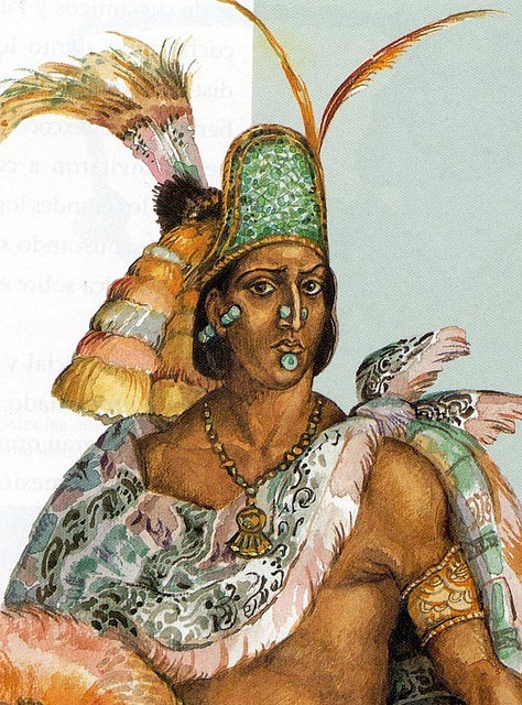 By the time of Moctezuma II was te ruler, with civil and religious power, dominated the states.