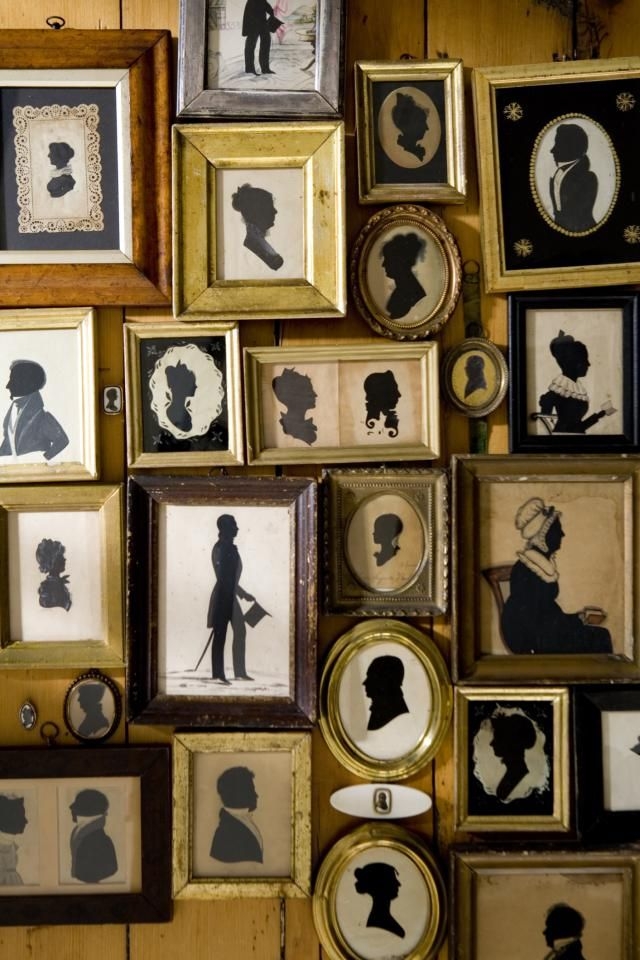 #collections | Frames | Silhouettes | 21 Vintage Collections You Can Hang on the Wall