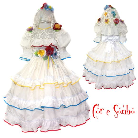 Vestido NOIVINHA quadrilha Festa Junina
