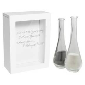 3ct White Always Quote Wedding Sand Ceremony Shadow Box Set : Target