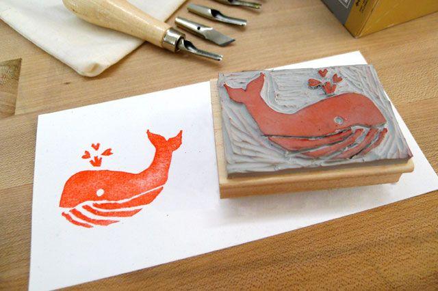 Geninne stamp carving google zoeken lino print