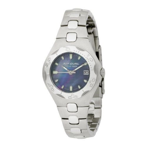 Rip Curl Women's A2034G-GUN Ocean Shell Gun Metal Stainless Steel Watch Rip Curl. $90.59. 316L stainless steel case and band: The highest grade of stainless steel for water resistance, strength and non-corrosion in a marine environment.. jeweled Movements: Synthetic rubies which serve as bearings for gears in watches. This reduces torque and friction allowing your watch to run more accurately for longer.. Heat bezel: A countdown timer on an analogue watch. Keeps track of...