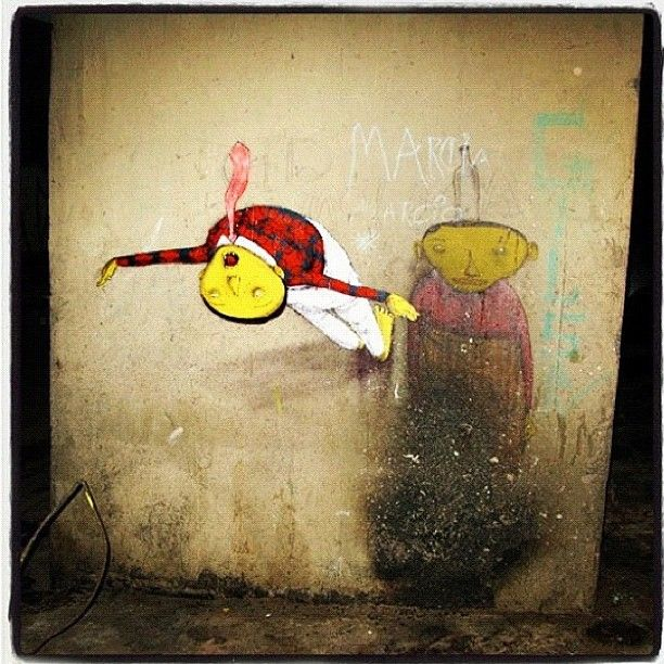 Artist: @osgemeos - when I got into graffiti those 2 twin brothers were the one I looked up as an inspiration. Their art is awesome, check out some of their old stuff and make sure to follow them on here!!! #graffiti #osgemeos #streetart #wall #spray #awesomeness #tattoomagazine #awesome #photo #iphoneonly #picoftheday #photooftheday #art #instagood #iphonesia - @tattooistartmag- #webstagram
