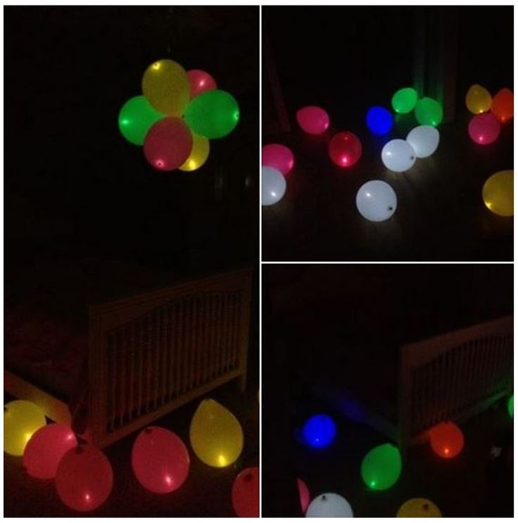 Our b+B Sales Representative, Samantha, created this Birthday Surprise for her daughter out of Lite-a-Loon Balloons! The Birthday Girl was thrilled with her glowing room when she woke up! #burtonandburton #litealoon #LEDballoons
