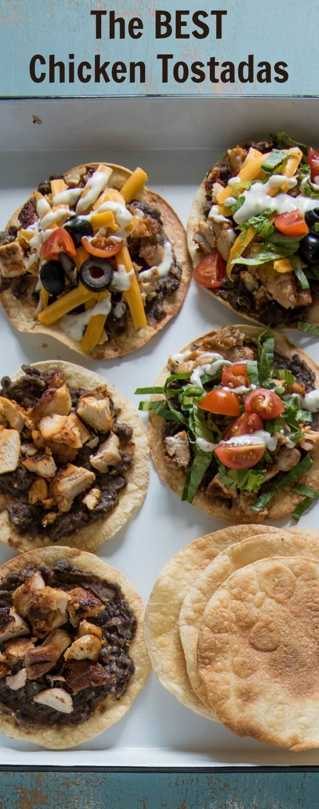 Easy chicken dinner alert! The Best Chicken Tostada Recipe takes 30 minutes to make, includes simple baked tostada shells, and the whole family will love it. Take Taco Tuesday to the next level with this delicious recipe.
