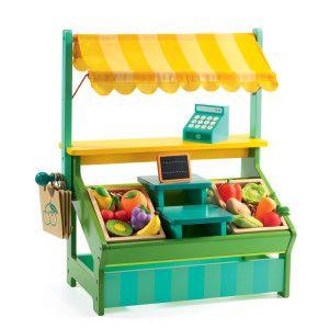 Banco del mercato in legno con tutti gli accessori  http://www.gioconaturalmente.it/prodotto/banco-del-mercato-marchande-de-leo/