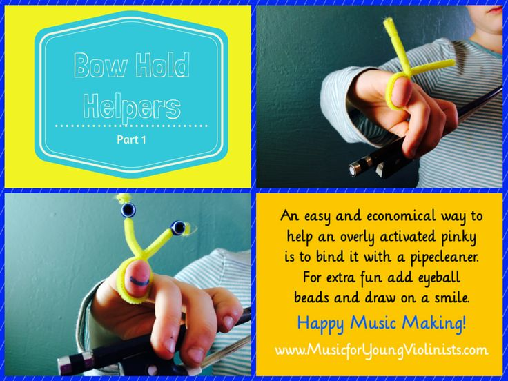 Violin Teaching: Bow Hold Helper #1. For more violin teaching ideas and free music resources please visit www.MusicforYoungViolinists.com