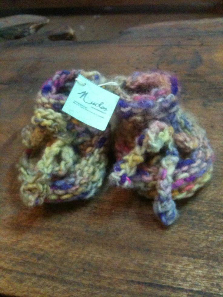 Zapatitos de bebe lana oveja pintada 0-3 meses