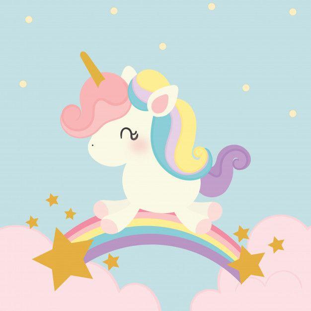 Vetor De Unicornio Fofo Unicorn Wallpaper Cute Baby Unicorn Unicorn Artwork