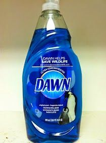 TUB AND SHOWER CLEANER Take a spray bottle and fill it halfway with white vinegar. Heat in the microwave. Fill the rest of the way with blue Dawn. Put lid on and shake to mix well. Spray on your tub and shower walls. Allow to sit for a few minutes and rinse away.  Merry Maids recommends using a drop of Dawn in water to clean ceramic tile and no-wax/linoleum floors. ✿´¯`*•.¸¸✿