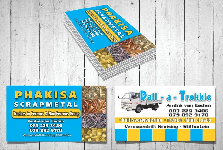 Clever individuals in Klerksdorp, Orkney and Stilfontein use business cards crafted by AdWorx Design Studio to tell the KOSH and surrounding areas about their business and provide existing and potential customers with an easy manner to access their contact details and other relevant information about their company.