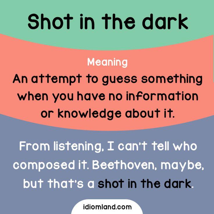 """""""Un tiro en la oscuridad"""""""