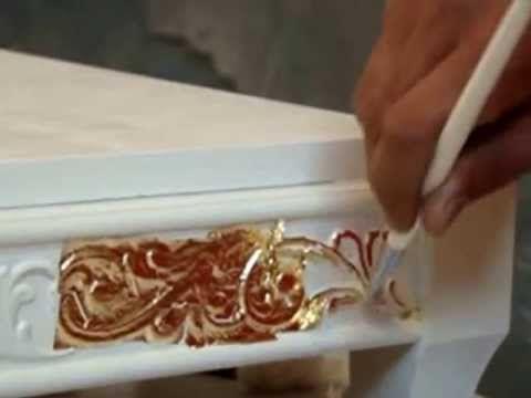 «Золочение» - нанесение на поверхность изделия листового (Поталь) золота, серебра и других металлов - YouTube