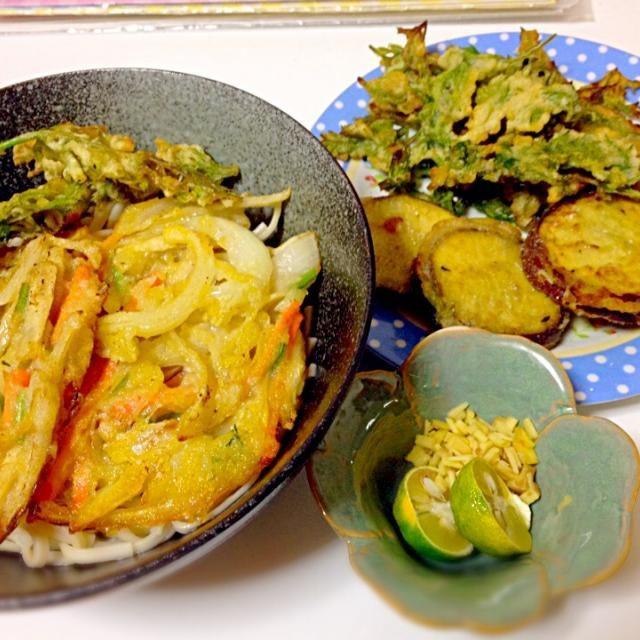 魚介も卵も使わない、動物性なしの美味しいかき揚げうどんです(^○^) - 4件のもぐもぐ - 野菜かき揚げうどん ビーガンレシピ by japananimal28