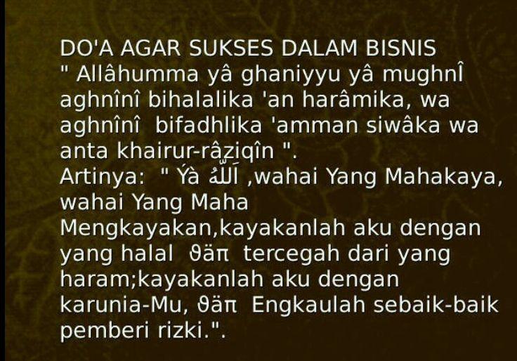 Doa Agar sukses dalam bisnis