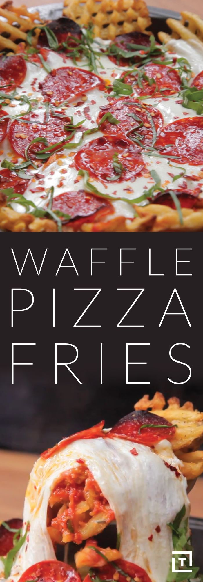 If there's one thing you should know by now, it's that we love pizza. A lot. And so do you, apparently! We also love waffle fries, because who doesn't love waffle fries? If we told you we knew how to make a pizza out of waffle fries, you'd probably freak out from sheer happiness -- so what are you waiting for? Check out the following recipe from Food Steez and change your life forever. Godspeed, friend.