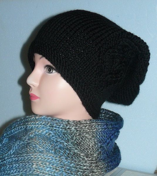 Color choices Super long beanie Black beanie slouchy hat Valentine's gift for her Oversized hat Knit baggy hat