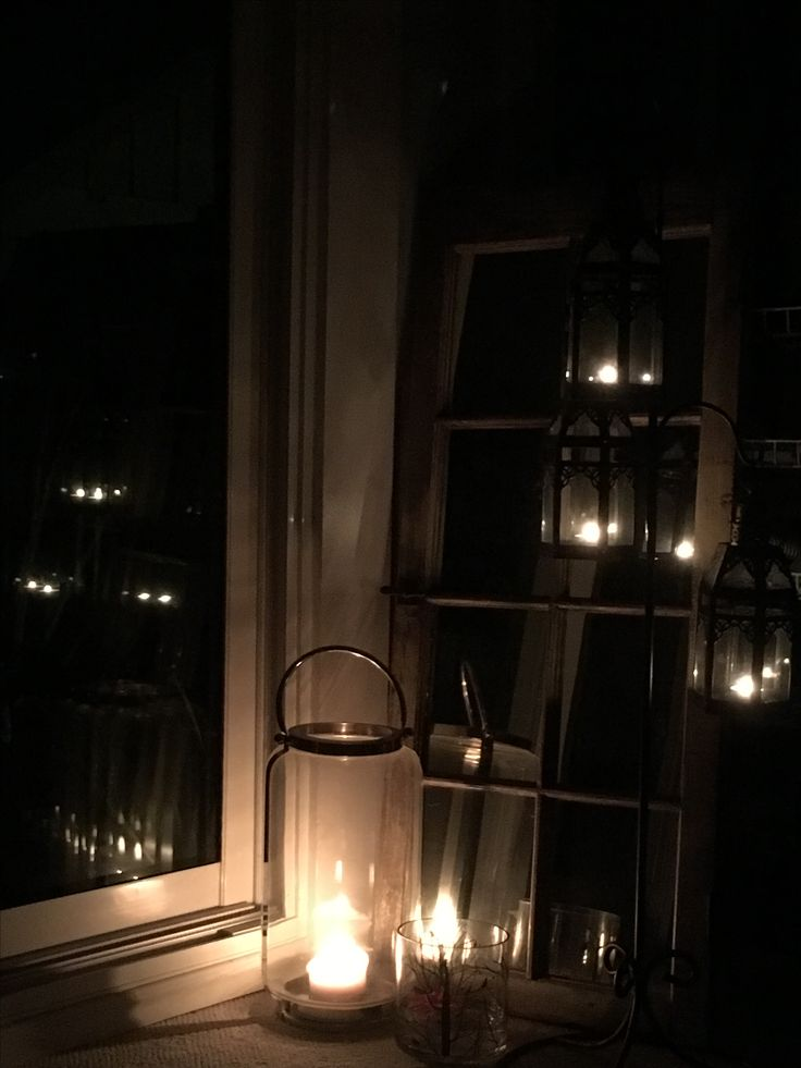 Candles in the sunroom