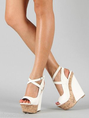 1000  ideas about Wedge High Heels on Pinterest | Teal high heels ...