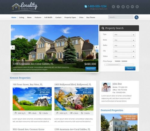 Locality - Best Real Estate WordPress Theme | Xtratheme