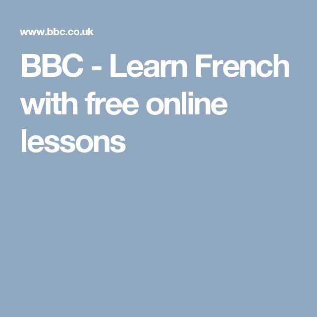 BBC - Learn French with free online lessons