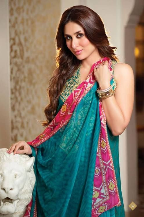 Kareena Kapoor for Crescent Lawn by Faraz Manan