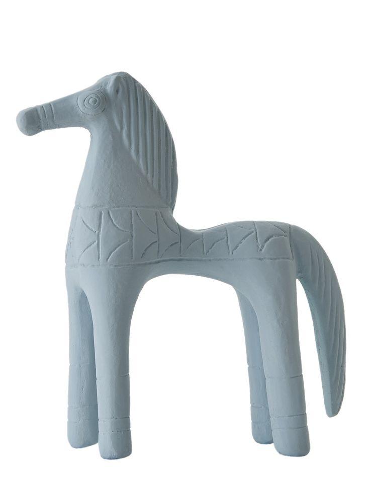 Horse Standing. Material: Ceramine. Color: Vintage Blue.