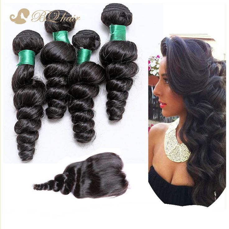 7A Rosa Malaysian Loose Wave 4 Bundles With Closure Buy Queen Unprocessed Virgin Hair Lace Closure With Quality Human Hair Weave