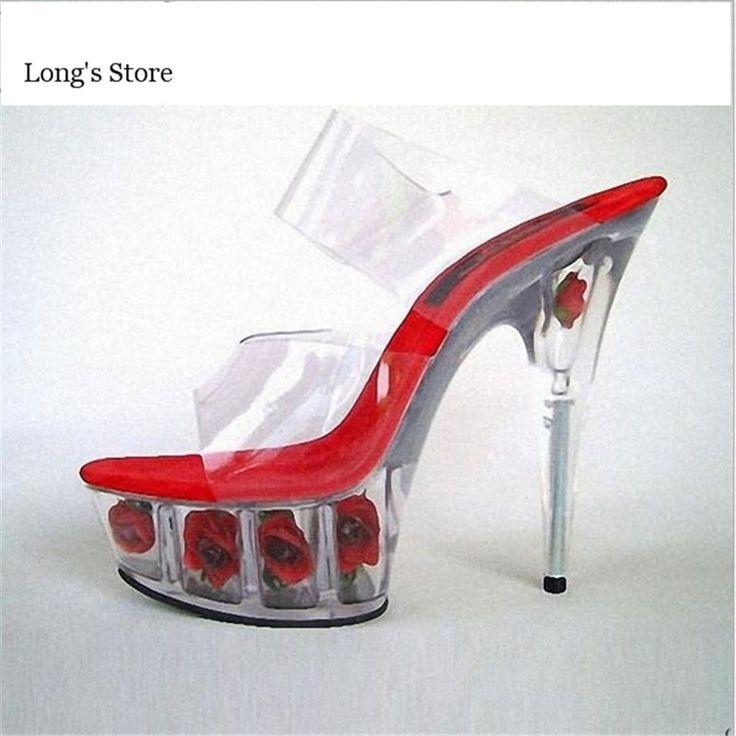 CDTS Big35-45 46 2016 Summer ladies Pumps Sexy 15cm thin Heels  crystal  platforms Nightclub Flowers Sandals woman wedding shoes