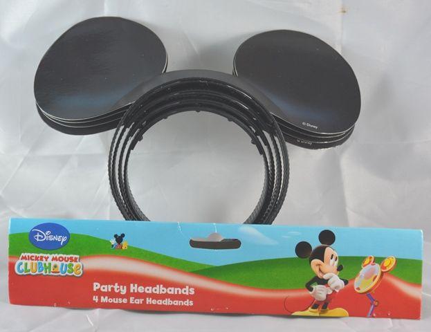 4 Cerchietti Topolino. Gadget per feste a tema Mickey Mouse, Feste di Compleanno e Costumi per Travestimenti. Disponibili da C&C Creations Store