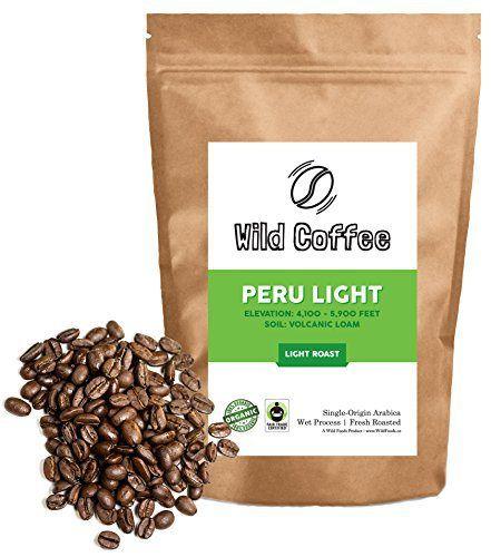 Wild Coffee, Whole Bean Organic Coffee, Fair Trade, Single-Origin, 100% Arabica, Austin Fresh Roasted (Peru Light-Medium Roast, 6 ounce) - http://goodvibeorganics.com/wild-coffee-whole-bean-organic-coffee-fair-trade-single-origin-100-arabica-austin-fresh-roasted-peru-light-medium-roast-6-ounce/