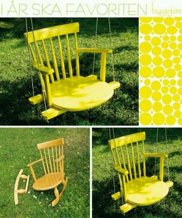repurposed rocking chair