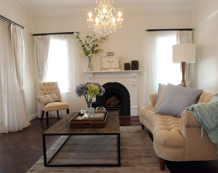 An elegant living room with a touch of colour