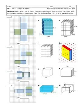 12 best Nets and Surface Area images on Pinterest | Surface area ...