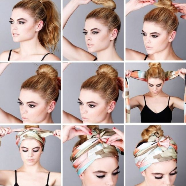 16 ways to tie a scarf - Hairstyles for all occasions