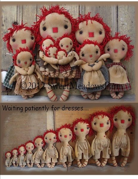 primitive raggedy ann cloth doll pattern