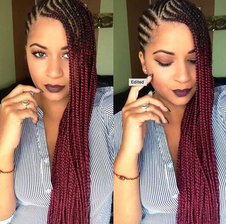 Image result for burgundy cornrows