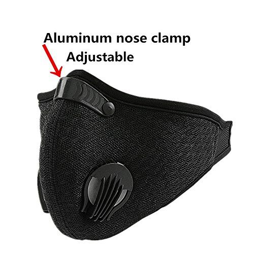 Activated Carbon Mesh Cover Dust Mask Dustproof Mask Face Mask Filtration Exhaust Gas Anti Pollen Allergy PM2.5 Air Filter Mask for Running Cycling and Other Outdoor Activities #Activated #Carbon #Mesh #Cover #Dust #Mask #Dustproof #Face #Filtration #Exhaust #Anti #Pollen #Allergy #Filter #Running #Cycling #Other #Outdoor #Activities